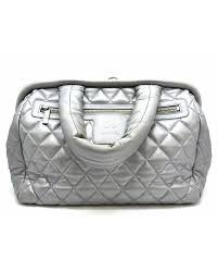 chanel quilted. chanel - men\u0027s auth quilted calfskin leather coco cocoon tote bag handbag silver | reebonz p