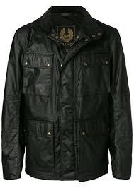 belstaff faux leather patch pocket jacket