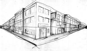 perspective drawings of buildings. Perspective Drawings Of Buildings 2 Point Drawing I