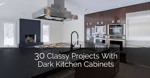 Kitchens With Cherry Cabinets Magnificent 48 Classy Projects With Dark Kitchen Cabinets Home Remodeling