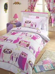 Owl Curtains For Bedroom Childrens Kids Quilt Duvet Cover Pillowcases Bedding Set With