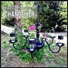 solar light chandelier solar powered chandelier not just paper and glue outdoor lighting chandelier how to