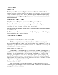 2 - Oil Field Resume