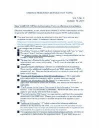 Hipaa Authorization Form Interesting New VAMHCS HIPAA Authorization Form Is Effective Immediately