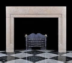 antique art deco bolection stone fireplace mantel