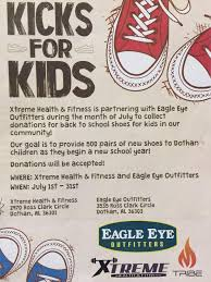 both dothan s xtreme fitness and eagle eye outers want to provide 500 new pairs of sneakers to kids going back to here in the wiregr