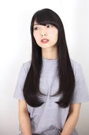 黒髪 ストレート ワンカール ロング Obayashi Natsumi 123364hair