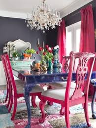 pink chairs see more dining room