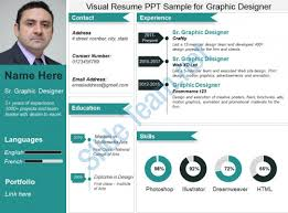 Visual Resume Ppt Sample For Graphic Designer PowerPoint Templates Inspiration Resume Powerpoint