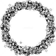 花のリースモノクロ イラスト素材 4858800 フォトライブラリー