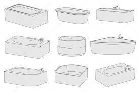 cartoon image of bathtubs bathrooms stock image