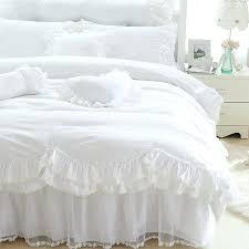 ruffle white duvet covers romantic ruffles lace snow white bedding set princess duvet cover luxury wedding ruffle white duvet covers