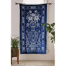 Indigo Shibori Hand Dyed Portal Japanese Noren Door Curtain Table cloth