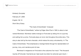 the cask of amontillado analyzed university linguistics document image preview