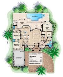 story luxury coastal home floor plan
