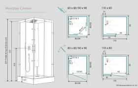 shower enclosures sizes.  Sizes Horizon Corner Watertight Pivot Door Shower Cubicle  Pod 800mm X With Enclosures Sizes