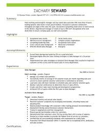 Manager Resume Template Mesmerizing Sales Manager CV Template CV Samples Examples