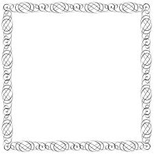 simple frame design. Plain Frame Simple Calligraphic Frame For Design