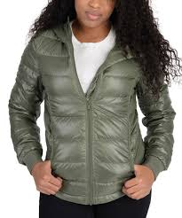 adidas womens utility low down jacket olive green