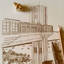 DESENHANDO ELEVADOR LACERDA (SALVADOR-BA, BRASIL) | Elevador lacerda, Fita  senhor do bonfim, Desenho