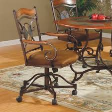 culbert swivel caster upholstered dining chair set of 2