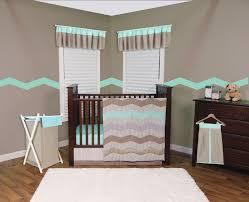 cocoa mint 3pc crib bedding set natural