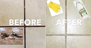 Clean Tile Floor Vinegar How To Clean Grout No Chemicals Using Vinegar Youtube