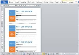 Gift Certificates For Your Business Printable Gift Certificates Template For Word