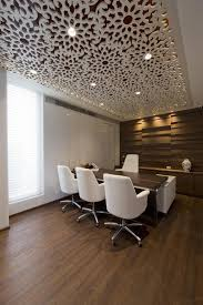 modern office ceiling. that ceiling design cosmos has completed the of a new office for tulip infratech real estate development firm based in gurgaon india modern i