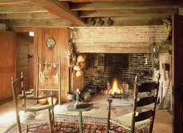 rustic walk in fireplace
