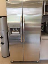 kitchenaid fridge. kitchenaid side by fridge stainless still with ice/water kiost retail $2400