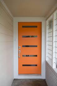 Modern Front Door Orange Modern Front Door Orange Nongzico
