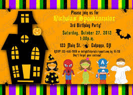 Free Halloween Birthday Invitation Templates Free Printable Halloween Birthday Party Invitations