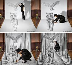 3d pencil drawing by benheine