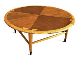 mid century modern lane acclaim round coffee table