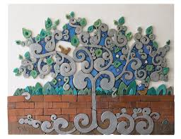 >ceramic wall art tree of life ceramic wall hanging www gvega  we design and make garden wall art made from ceramic