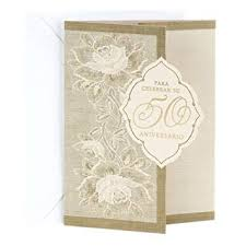 wondrous hallmark anniversary gifts hallmark vida spanish 50th anniversary greeting card 50th in diamond