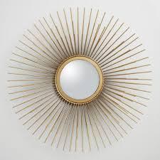 gold sunburst mirror. Gold Metal Tri Sunburst Mirror R