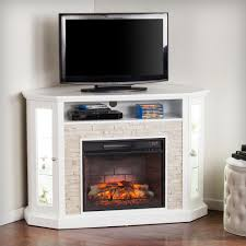 w corner convertible infrared electric a fireplace in white