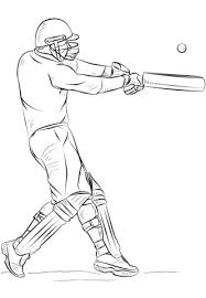 Cricket Bat And Ball Coloring Pages 2019 Open Coloring Pages