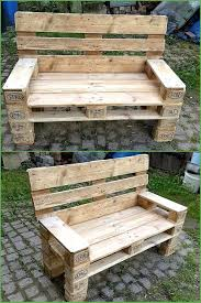 shipping pallet furniture ideas. check out this recycled pallet outdoor bench shipping furniture ideas