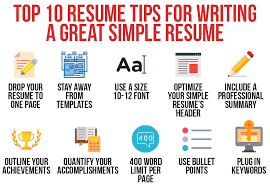 Modern Looking Font For Resume Top 10 Tips For Writing A Great Resume