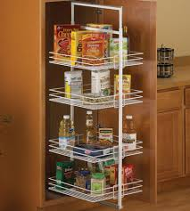 Center Mount Pantry Roll-Out System - White in Pull Out Pantry Organizers