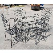 wrought iron outdoor furniture. Inspiring Popular Vintage Wrought Iron Patio Furniture Tedxumkc Decoration Image For Black Table And Chairs Trends Decor Style Outdoor