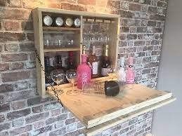 wooden outside wall hung bar ideal for