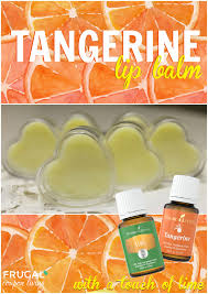 6 tangerine lip balm with a touch of lime