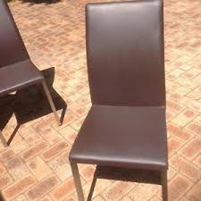 leather dining chairs in perth region wa dining chairs gumtree australia free local clifieds