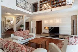 classy home furniture. Classy House - Elegant Living Room And A Mezzanine Stock Photo 18178548 Home Furniture