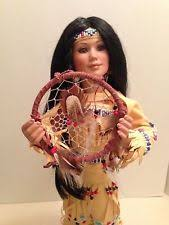 Dream Catcher Dolls Danbury Mint Contemporary Porcelain Native American Dolls eBay 62