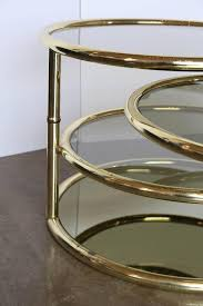 milo baughman four tier smoke glass and